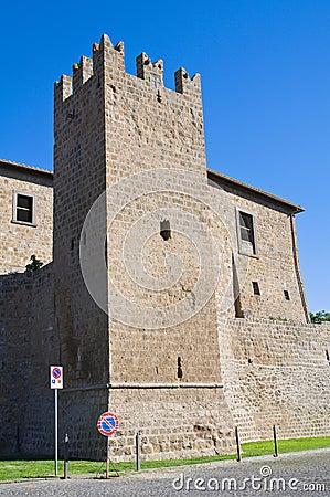 Fortified walls. Tuscania. Lazio. Italy.