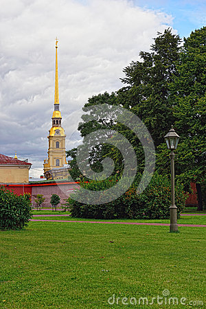 Free Fortness Of St. Peter And Pavel And The Park In St-Petersburg, R Stock Photography - 35607362