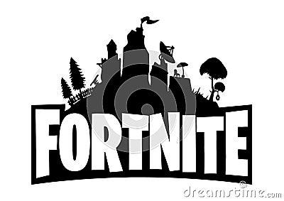 Fortnite Logo Editorial Stock Photo