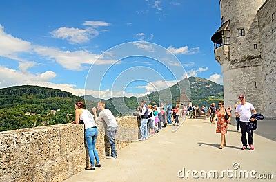 Fortress Hohensalzburg in Salzburg, Austria. Editorial Photography