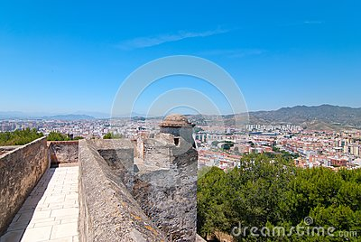 The fortress in Malaga.