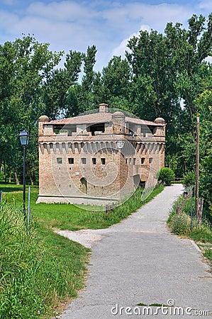 Fortress Rocca Stellata. Bondeno. Emilia-Romagna.