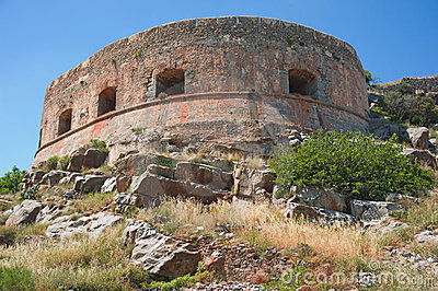 Fortress, Spinalonga Island.