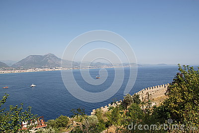 Fortress wall in Alanya