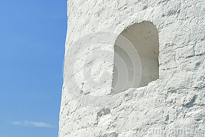 Fortress wall with loopholes