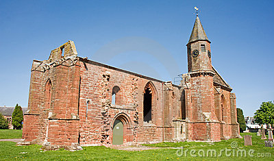Fortrose cathedral; historic ruins.