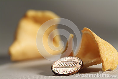 Fortune cookie & Coin