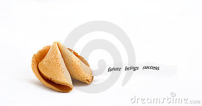 Fortune cookie saying future brings success