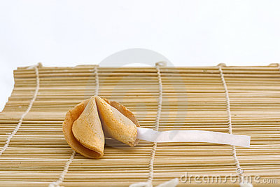 Fortune cookie with text area