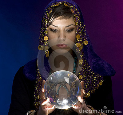 Fortune-teller With Crystal Ball Stock Image - Image: 9475161 Crystal Ball Fortune Teller