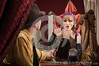 Fortune Teller Predicting Bad Luck