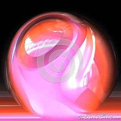 Fortune teller s crystal ball