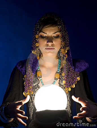 Free Fortune-teller With Crystal Ball Stock Images - 9475144
