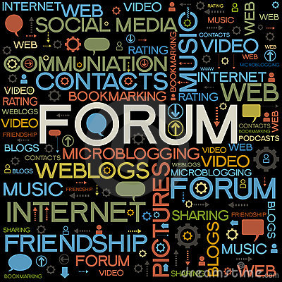 Forum backgrounds with the words