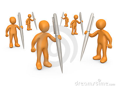 Forum Community Editorial Stock Photo