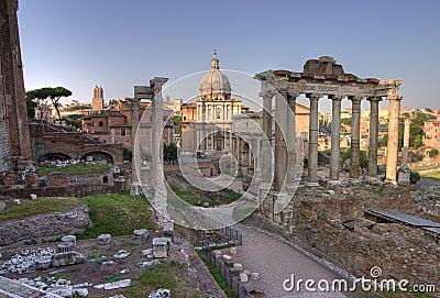 Forum romanum in Rome, hdr