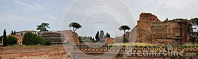 Forum Romanum in Rome Editorial Stock Photo