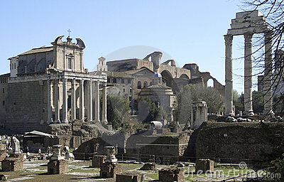 Forum Romanum at summer time