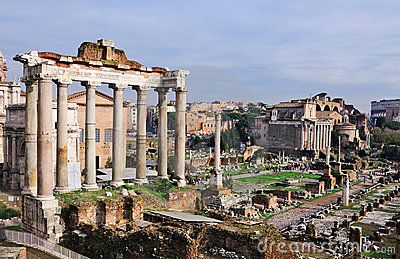 Forum Romanum: Temple of Saturn