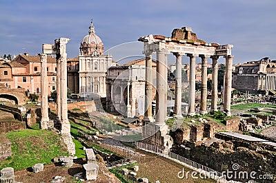 Forum Romanum: Temple of Saturn