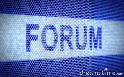 Forum screen