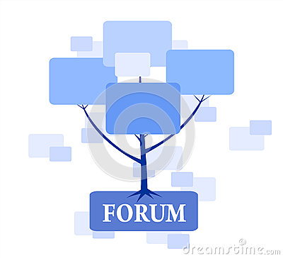 Forum Tree in blue color