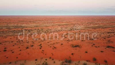 Aerial shot tracking over the deserts of Australia`s outback. Location Strzelecki Desert, South Australia. Forward flying aerial shot tracking over the deserts stock footage
