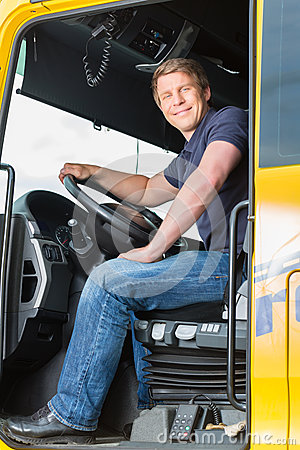 Free Forwarder Or Truck Driver In Drivers Cap Stock Image - 38145711
