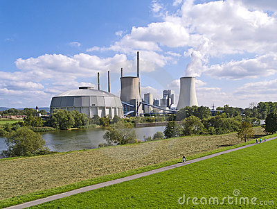 Fossil-fuel power station Editorial Stock Photo