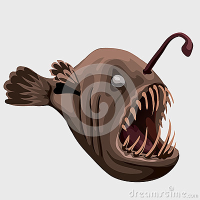 Free Fossil Toothy Brown Fish Lamp, Image Isolated Royalty Free Stock Images - 69930529