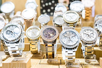 Fossil Watches In Shop Window