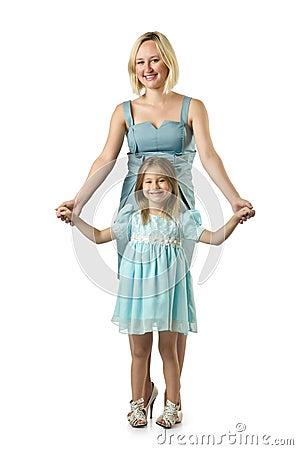 Fostra med dottern