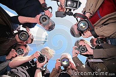 Fotógrafos en objeto