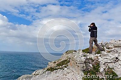 Fotógrafo em África do Sul
