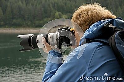 Fotógrafo en el trabajo