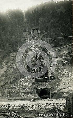 Foto 1930 för antikvitetgruvarbetareoriginal