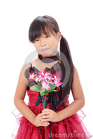 Foto av little asiatisk flicka