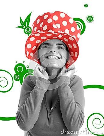 Foto conservada em estoque de uma mulher bonita nova