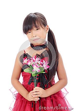 Foto de la pequeña muchacha asiática