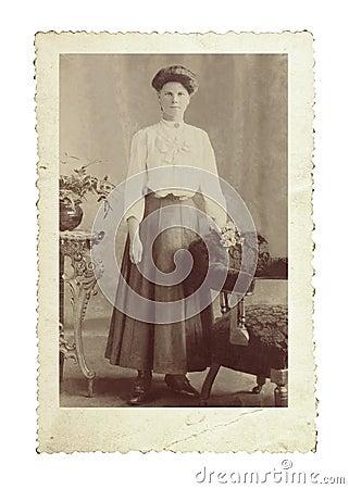 Foto de la vendimia de la belleza de Edwardian