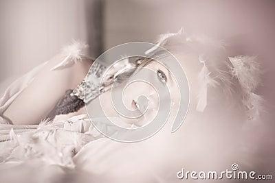 Foto delicada com menina