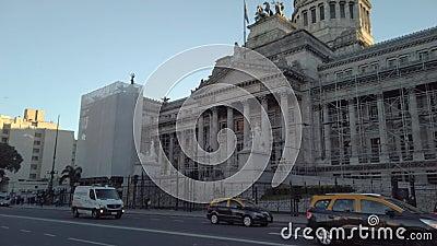 Foto di Panning che rivela il Palazzo del Congresso Nazionale Argentina video d archivio