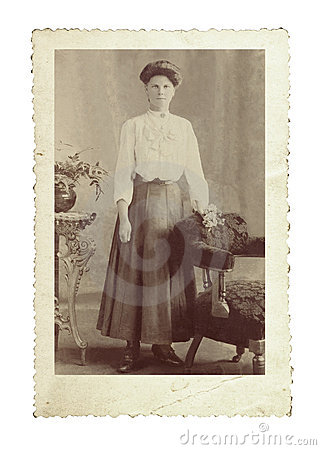 Foto do vintage da beleza de Edwardian