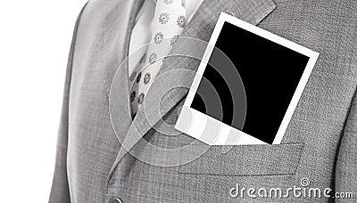 Foto in een jasje