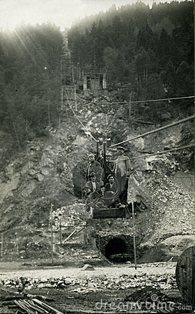 Foto-minatori antichi di originale 1930