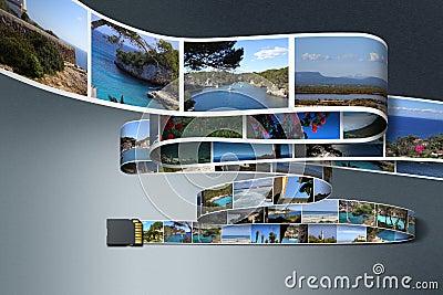Foto s en de kaart van BR