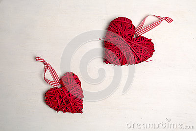 Foto van een kerstboom met ornamenten en decoratie voor de hart vormige rode kleur van valentine - Foto van decoratie ...