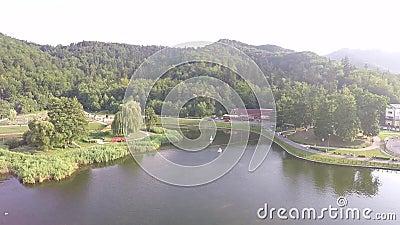 Fotografia aerea di rumeno Montains video d archivio