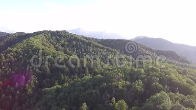 Fotografia aerea di rumeno Montains archivi video
