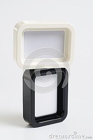 Fotografia czarny ramowy biel